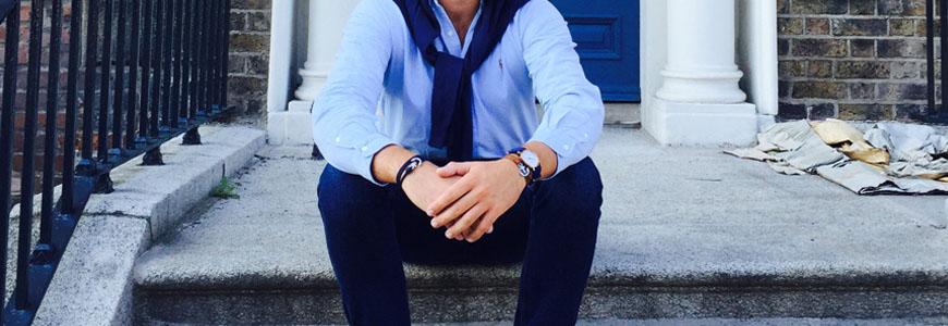 porter chemise bleu