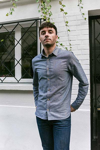 chemise semi slim en chambay