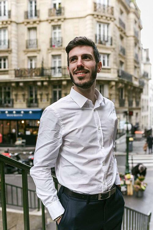chemise popeline blanche coton bio Hugo