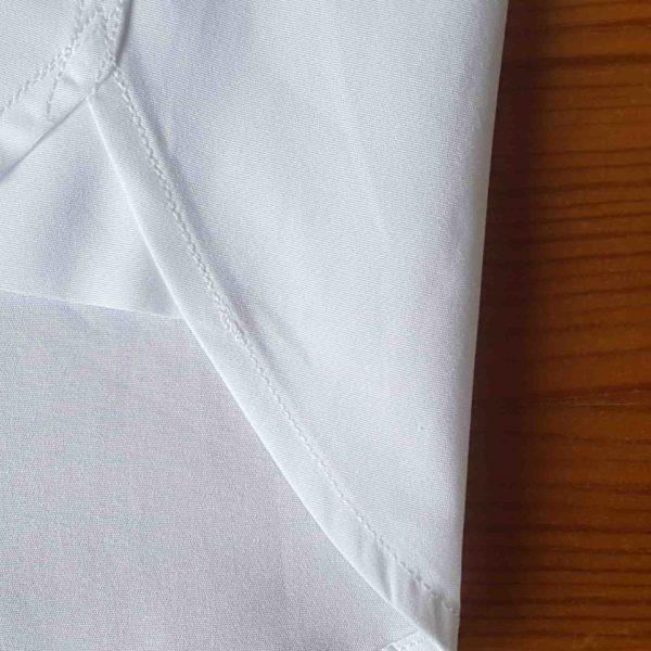 Hirondelles de renfort chemise en popeline blanche coton bio