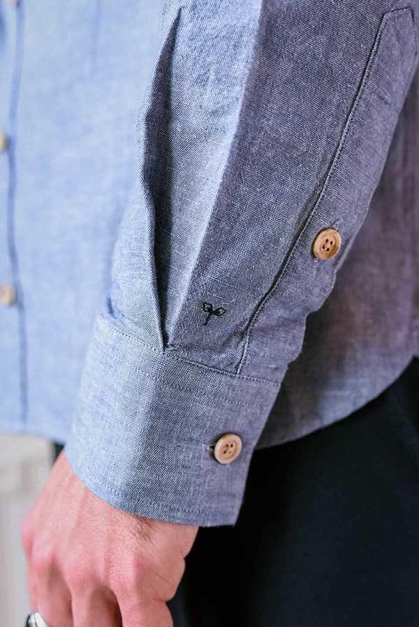 poignet chemise pour homme en chambray