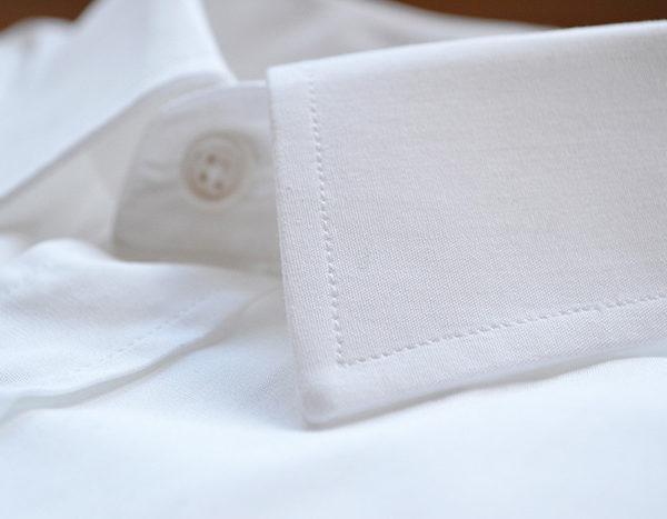 Col chemise popeline blanche Hugo