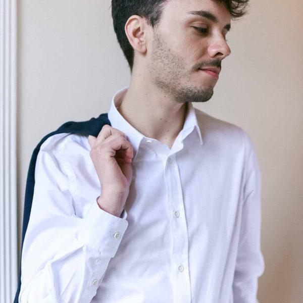chemise blanche popeline coton bio homme