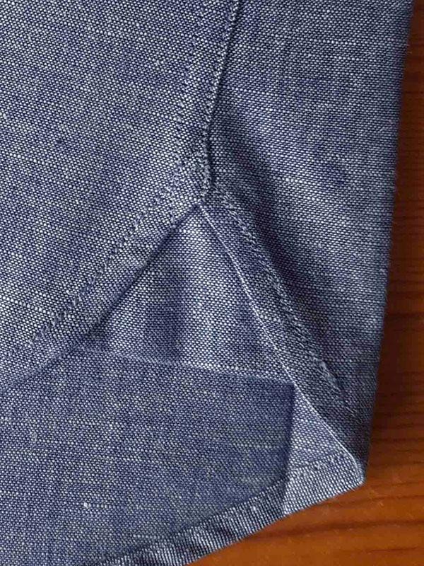 Hirondelles de renfort chemise en chambray