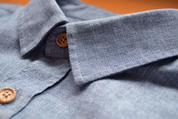 Zoom Coutures chemise en chambray