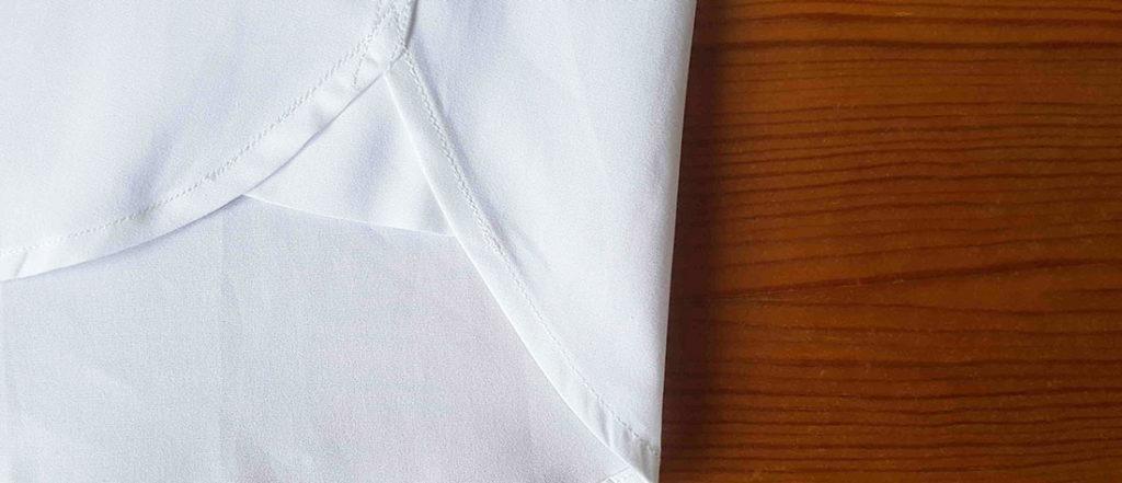 hirondelles de renfort chemise popeline blanche en coton bio