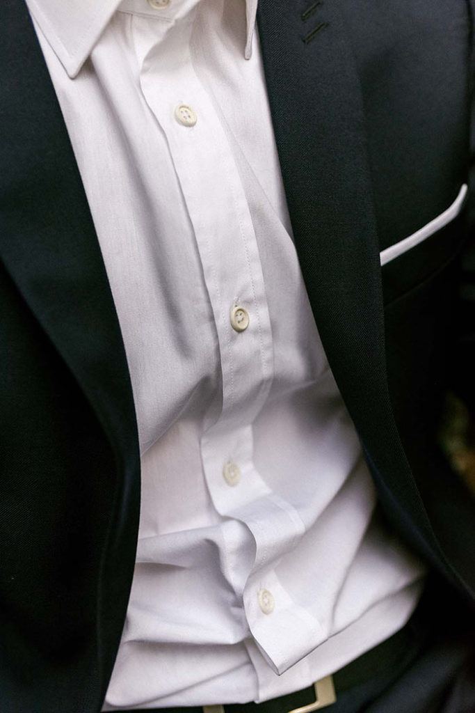 chemise popeline blanche coton bio zoom tissu