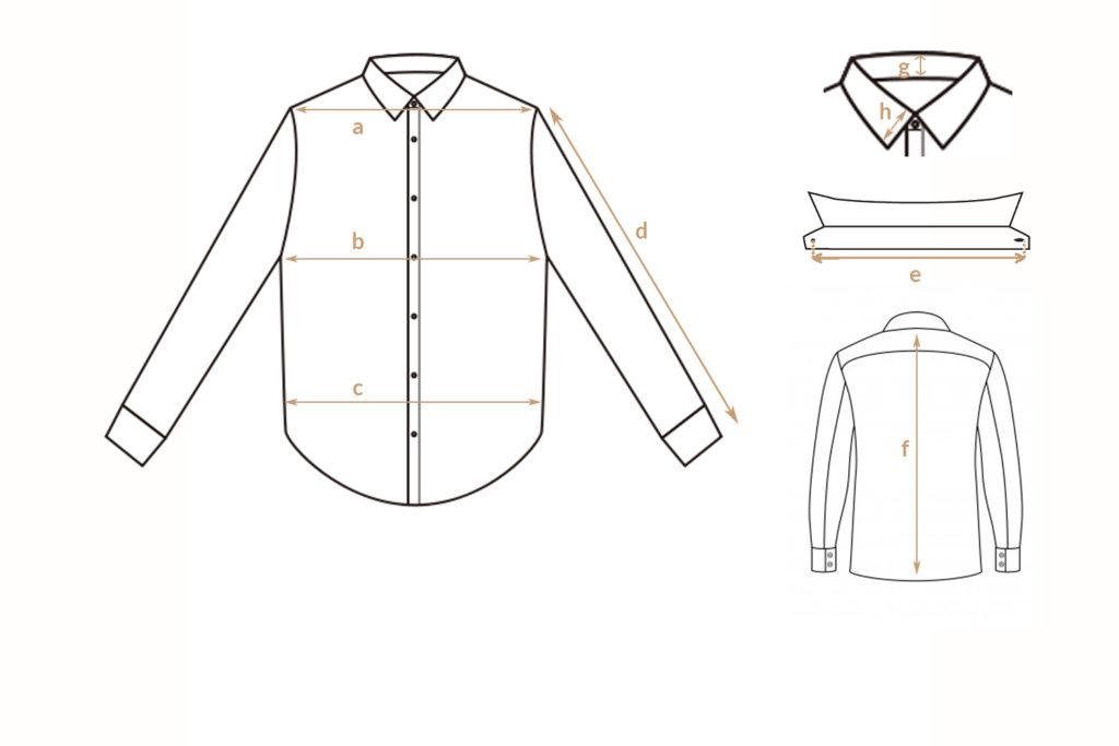Guide des tailles chemises Les Optimistes