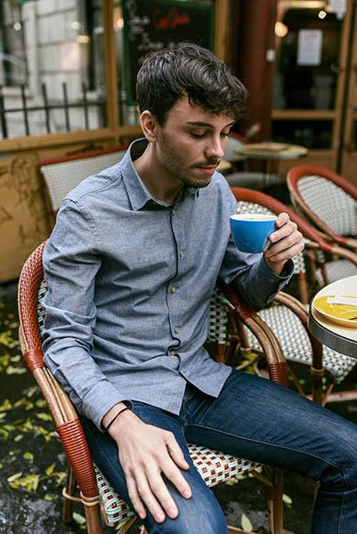 chemise chambray léon