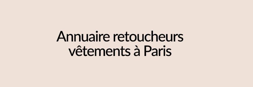 annuaire retoucheurs vêtements Paris
