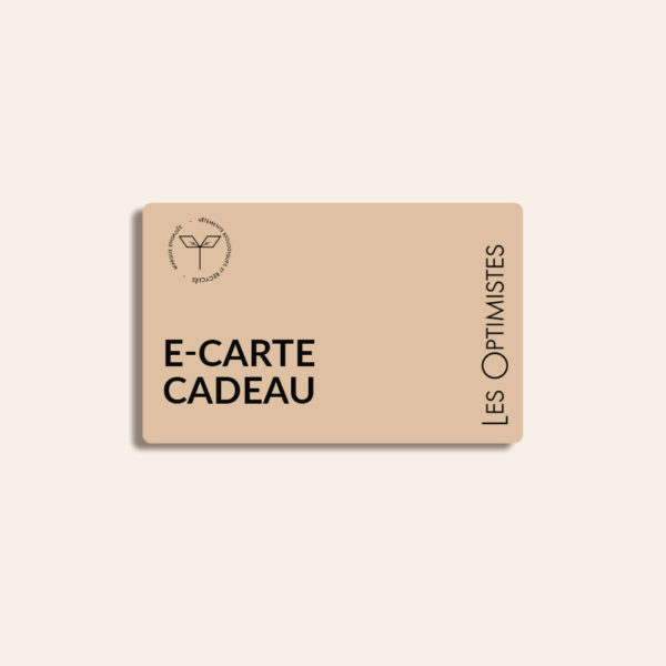 Carte cadeau éco-responsable Les Optimistes